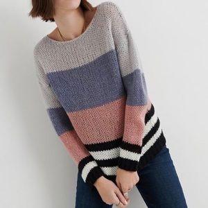 LYCKY BRAND bold stripe pullover